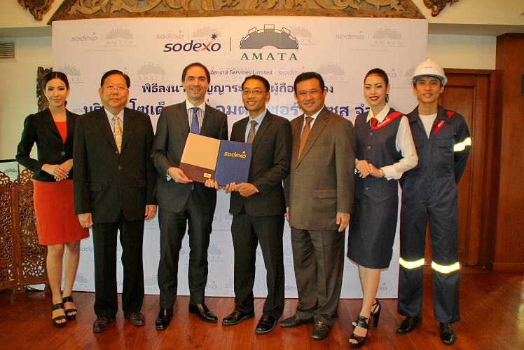 062315 - Sodexo Thailand and Amata Facility Services establish a joint-venture company to provide integrated quality of life services at Amata industrial estates