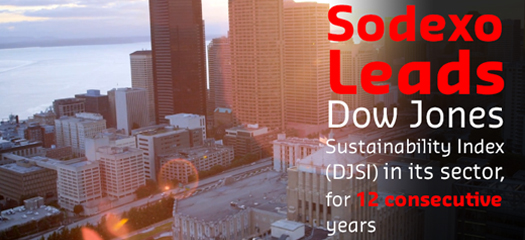Sodexo leads Dow Jones Sustainability Index for 12th Year
